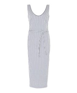 Martin Grant | Striped Fitted Midi Length Dress