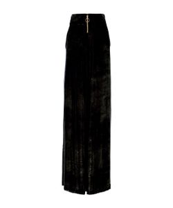 Christian Siriano | Lacquered Slim Velvet Trousers