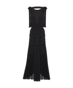 Rochas | Pleated Bow Midi Dress