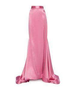 Christian Siriano | Satin Full Length Skirt