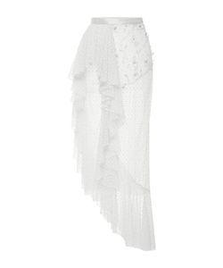 Rodarte | Offside Ruffle Polka Dot Tulle Skirt