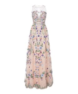 Zuhair Murad   Bead Embroidered Illusion Gown