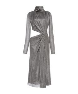 Prabal Gurung | Long Sleeve Twist Silk Dress With Cutout