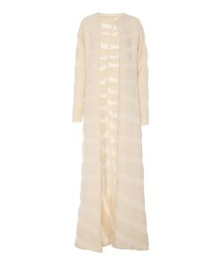 Nanna van Blaaderen | Long Zebra Knit Robe