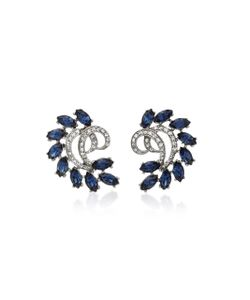 Ben Amun | Tone Crystal And Sapphire Earrings