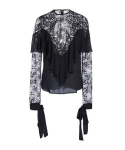 Elie Saab | Crepe And Lace Long Sleeve Top