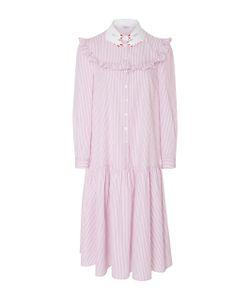 Vivetta | Teheran Dream Ruffle Cotton Shirt Dress