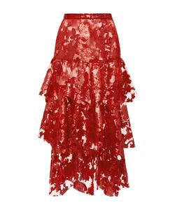 Rodarte | Sequin And Lace Tie Skirt