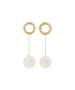 Joanna Laura Constantine | Grommets Shell Pearl And Plated Earrings