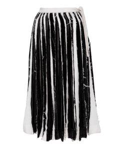 Jonathan Cohen   Slashed Velvet And Silk Skirt