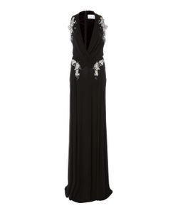 Zuhair Murad   Plunging Neck Embellished Gown
