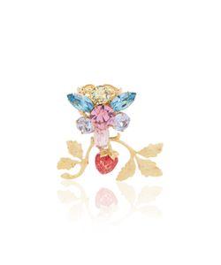 Rodarte | Strawberry And Swarovski Crystal Cluster Ring