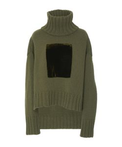 Sally Lapointe | Cashmere Wool Velvet Patch Pullover