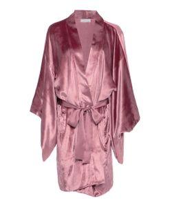 Fleur Du Mal | Silk-Trimmed Robe