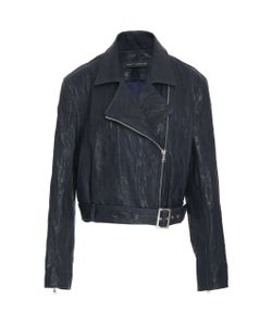 Sally Lapointe | Distressed Leather Moto Jacket