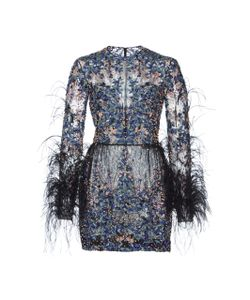 Zuhair Murad   Bead And Feather Embroidered Mini Dress