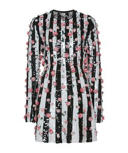 Giambattista Valli | Striped Sequin Paillette Mini Shift Dress