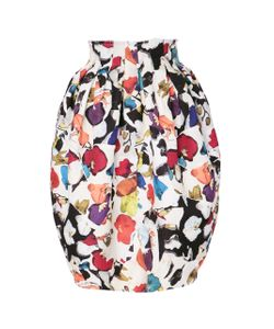 Jonathan Cohen   Orchid Collage Jacquard Bubble Skirt