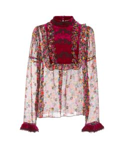 Anna Sui | Apples And Cherries Chiffon Top