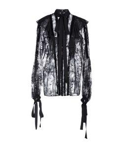 Elie Saab | Lace Ruffled Long Sleeve Blouse