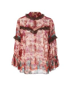 Anna Sui | Painted Posey Border Top