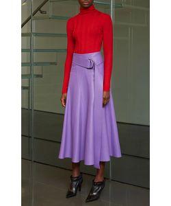 Derek Lam   Belted Leather Skirt