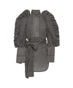 Ellery | Ruffled Plaid Cotton Shirt