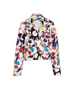 Jonathan Cohen | Orchid Collage Jacquard Cropped Jacket