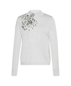 Delpozo | Sequin-Embroidered Mock Neck Top