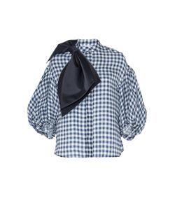 Dice Kayek | Puff Sleeves Bow Shirt