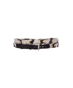 Jonathan Cohen   Abstract Orchid Jacquard Wrap Belt