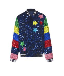 Mira Mikati | Whatever Monster Sequin Bomber Jacket