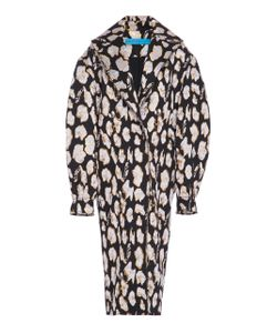 Jonathan Cohen | Abstract Orchid Jacquard Cocoon Coat