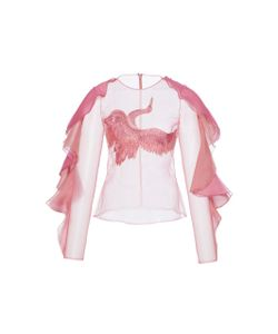 Christian Siriano | Ruffled Embroidered Blouse
