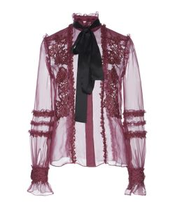 Zuhair Murad   Macramé Necktie Blouse