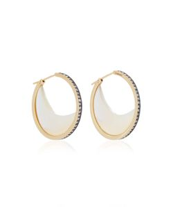 Noor Fares   Chandra Crescent Earrings In With Mother Of