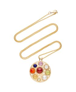 Noor Fares | Upratna Amulet In With Various Coloured Stones