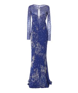 Zuhair Murad   Bead Embellished Keyhole Gown
