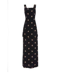 Vilshenko   The Madison Crepe Peplum Long Dress