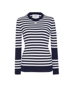 Courrèges | Striped Cotton And Cashmere-Blend Sweater