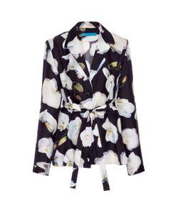 Jonathan Cohen   Abstract Orchid Silk Blouse