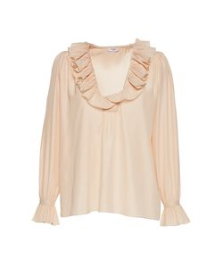 Vilshenko | The Molly Pleated Blouse