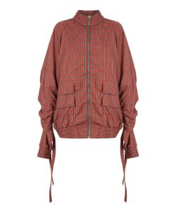 Strateas Carlucci | Check Orchis Veil Drawstring Bomber