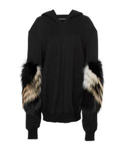 Sally Lapointe | Cashmere Wool Sweatshirt W Chevron Fox Sleeves