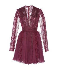 Zuhair Murad   Chiffon And Chantilly Lace Dress
