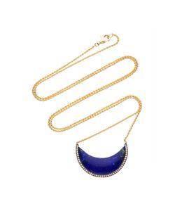 Noor Fares | Chandra Cresent Pendant In With Lapis Lazuli