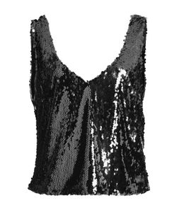 Sally Lapointe | Stretch Sequin Scoop Neck Tank