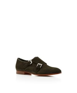 Santoni   Low Ankle Buckle Shoe