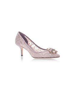 Dolce & Gabbana | Crystal-Embellished Lace Pumps