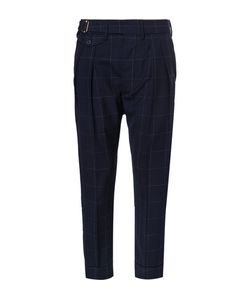 Wooster + Lardini | Tapered Windowpane-Checked Wool Trousers